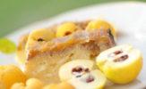 Tort z kalafiora i białej czekolady pod pierzynką z dżemu pigwowego
