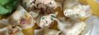 Pierogi z pieczonego łososia i ruskie z wędzonym serem